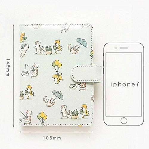 Cahier de couverture de dessin animé mignon Cahier de journal de qualité portable