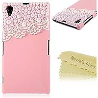 Mavis 's Diary PC Cover 3D Bling Perle und Spitze Schutzhülle Kunststoff Schutzhülle Hard Case, Pink / Grün, 2Y2TZ049S