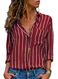 Happy Sailed Damen Bluse Gr. (40 DE/42 DE) Large, rot