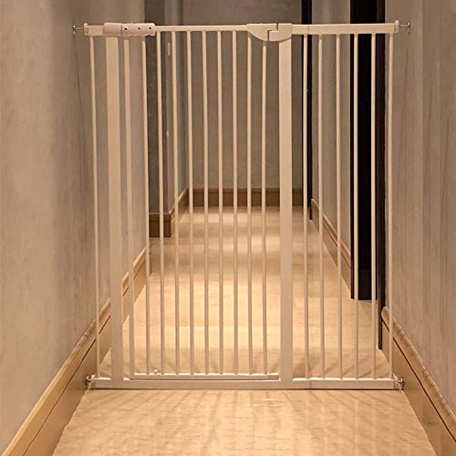 Türschutzgitter Extrabreite Und Hohe Baby-Tore Für Treppentüren, Druckmontiertes Metall-Haustiertor Für Katzen- / Hundetüren, 120 cm Hoch, Weiß (Size : 90-96CM)
