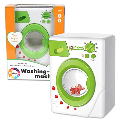 Kinderwaschmaschine mit Licht, Sound und drehender Trommel