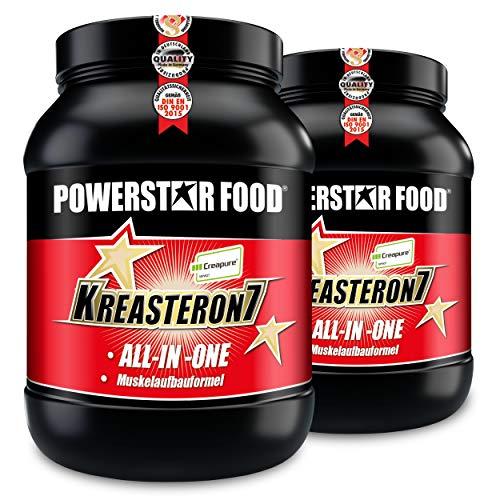 Zink-acetat (KREASTERON 7, ultimatives ALL-IN-ONE-Aufbauprodukt mit 7 Nährstoff-Kombinationen zum optimalen Muskelaufbau und Kraftsteigerung (Kirsch, 3220 g = 2 Dosen))