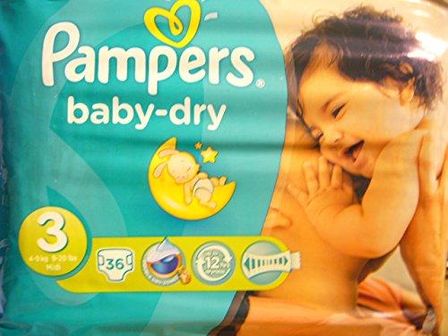 Preisvergleich Produktbild Pampers Windeln babydry Größe 3 Midi, 49 kg, Sparpack