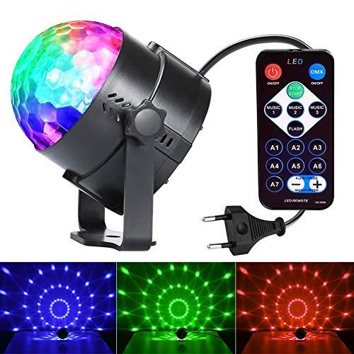 InnooLight Lampada Magica RGB Lampada da Discoteca Luci da Palco Sfera da Discoteca Rotante per KTV, Discoteca, Festa, Natale, Bar, ecc