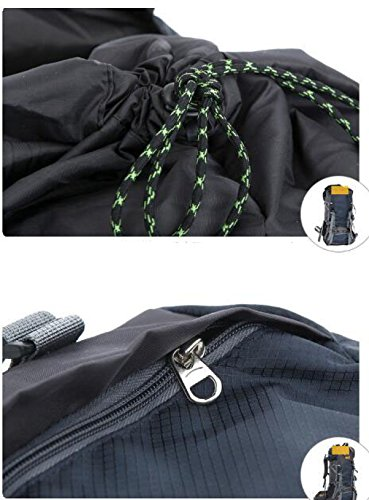 Impermeabile Traspirante All'aperto Sport Corsa Corsa Zaino Alpinismo Black