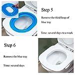 UEETEK Pet Toilet Training Seat for Cats Potty Training Tray Cats Kit (Blue) 13