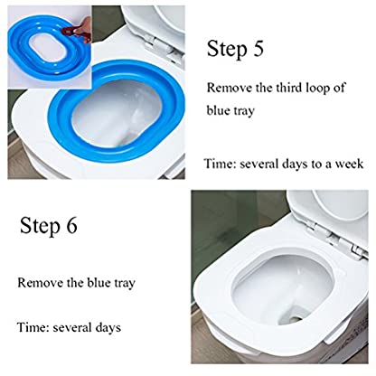 UEETEK Pet Toilet Training Seat for Cats Potty Training Tray Cats Kit (Blue) 4