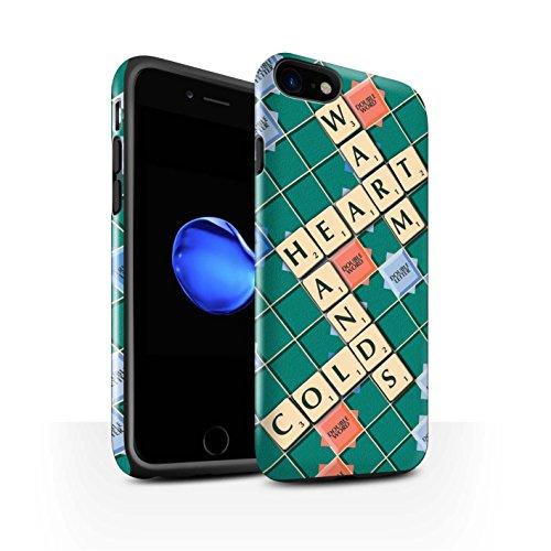 STUFF4 Glanz Harten Stoßfest Hülle / Case für Apple iPhone 8 / Ignoranz Glück Muster / Scrabble Worte Kollektion Warmes Herz