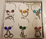 Uniquely-Equine Wine charms–western (Cut Glass)