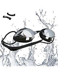 Occhialini da Nuoto, Anti-Appannamento Occhiali da Nuoto Agonistico Protezione UV Impermeabile per Adulti, Bambini +10 Anni, di VETOKR
