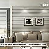 10m Modern Vlies Damast Textured Stripe Schlafzimmer Wohnzimmer Zuhause Aufkleber Tapete Rolle (Dunkel-Grau)