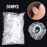 TAOtTAO - 200 Almohadillas Transparentes para la Ducha, Impermeables, para Colorear el Pelo, Tapas para los oídos