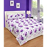 BSB Trendz HD 3D Printed Feel Like Glace Cotton 180 Tc With 200 GSM 3 Piece Bedding Set 1 Double Bedsheet 2 Pillow Covers Bedsheet Size-90X90 Inches Pillow Cover Size-17X27 InchesBSB2653