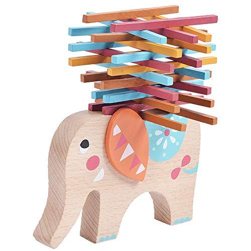 Rclhh Montessori Juguetes Elefante de Madera para Mejorar Las Habilidades de Aprendizaje con Palillos para el Desarrollo de Habilidades motoras tempranas y el Entrenamiento de su Hijo