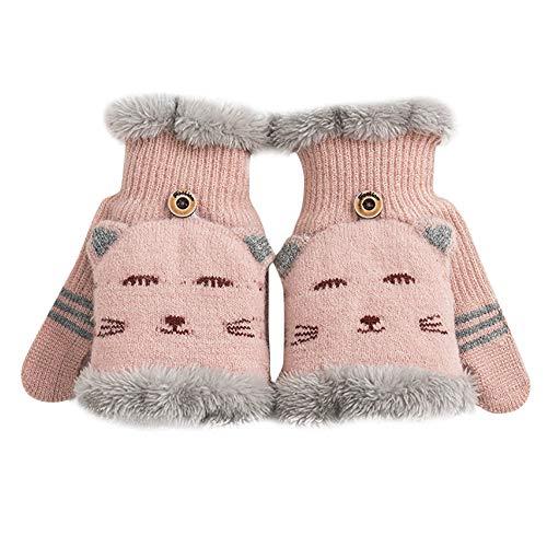 Mitlfuny HandschuhwäRmer Frauen Winter Fingerless Rabbit Gloves Female Girls - Kid Leder Fahren Handschuhe