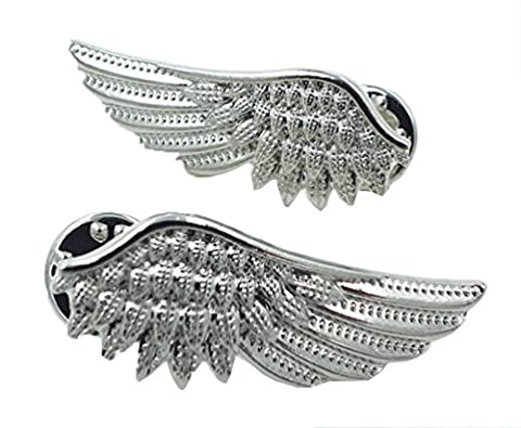 Meta-U Vintage Angel Wings Metallic Shirt Collar Tips Brooch