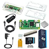 Vilros Raspberry Pi Zero W Complete Starter Kit-Clear Case Edition-Includes Pi Zero W and 7 Essential Accessories