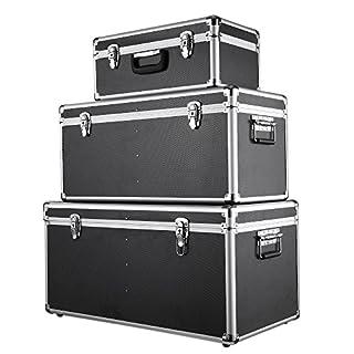 iKayaa 3PCS Boîtes à Outils Professionnel Multi Usage Grande/Moyenne/Petite Taille avec Gère