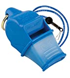 FOX40 Sonik CMG Safety blau Trillerpfeife+ Break-away Sicherheits-Pfeifenschnur blau