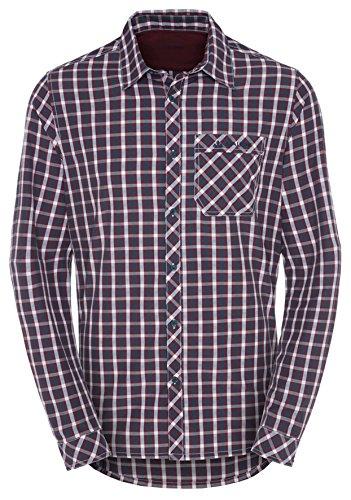 VAUDE men's heimer chemise à manches longues pour homme Rouge - Claret Red