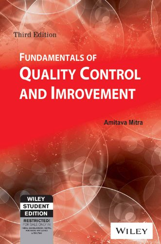 Fundamentals of Quality Control and Improvement, 3ed