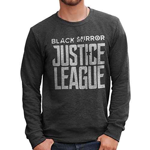 Felpa Girocollo BLACK MIRROR JUSTICE LEAGUE - FILM by Mush Dress Your Style Antracite