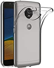 Funda Lenovo Moto G5, AICEK Transparente Silicona Fundas para Motorola Moto G5 Carcasa (5,0 Pulgadas) Silicona Funda Case