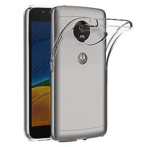 Cover Lenovo Moto G5, AICEK Cover Lenovo Moto G5 (5.0 Pollici) Silicone Case Molle di TPU Trasparente Sottile Custodia per Motorola Moto G5