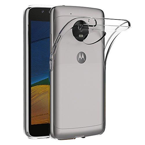 AICEK Lenovo Moto G5 Hülle, Transparent Silikon Schutzhülle für Moto G5 Case Crystal Clear Durchsichtige TPU Bumper Motorola Moto G5 Handyhülle
