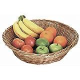Thekendisplay Korb 120x 420mm. Weide natur Fruit Aufbewahrungskorb für Tablett