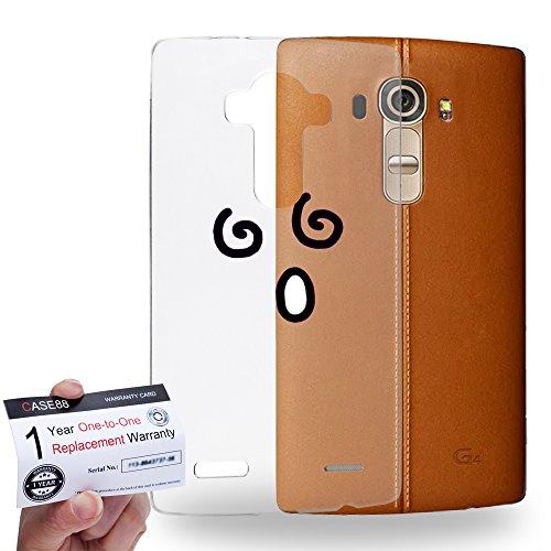Case88 [LG G4] Gel TPU Hülle / Schutzhülle & Garantiekarte - Art Fashion Dizzy Kawaii Emoticon Edition * Transparent background *