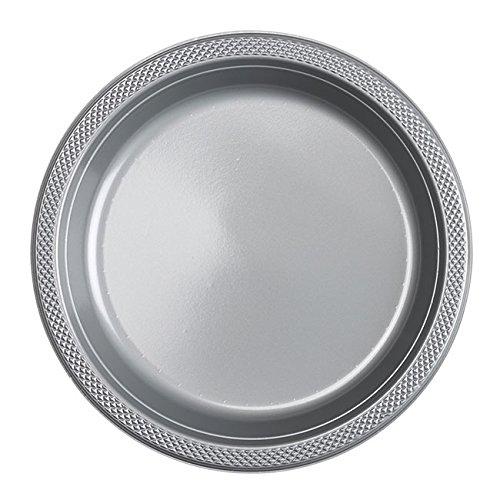 552285–17Kunststoff Teller, silber Spark, 22.8cm (Silber-kunststoff-teller)