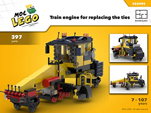 Train engine used for replacing the ties (Instruction Only): MOC LEGO (English Edition)