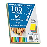 Dohe 30170 - Pack de 100 papeles A4, 80 g, multicolor intenso