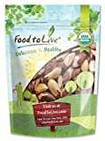 Food to Live Las nueces de Brasil orgánicas (crudas, sin cáscara) (8 onzas)