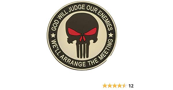Cobra Tactical Solutions God Will Judge Our Enemies Punisher Military Pvc Patch Mit Klettverschluss Für Airsoft Cosplay Paintball Für Taktische Kleidung Rucksack Alle Produkte