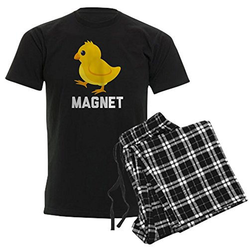 CafePress Chick Magnet Pajamas - Unisex Novelty Cotton Pajama Set, Comfortable PJ Sleepwear