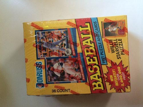 1991 Donruss Series 1 Baseball Card Pack Factory Sealed Box by Donruss