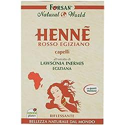 La Tradizione Erboristica Forsan - Hennè Rosso Egiziano per Capelli - Riflessante e Nutriente - [Pacco da 3]