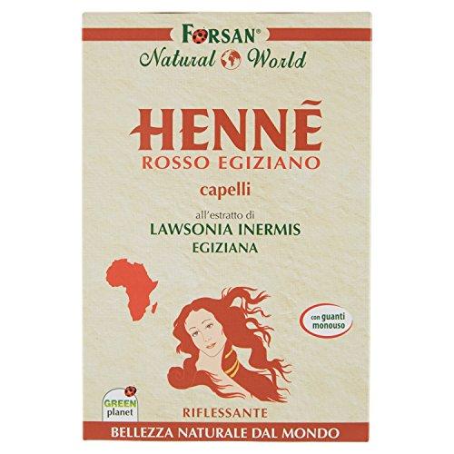 La Tradizione Erboristica Forsan Hennè Rosso Egiziano per Capelli Riflessante e Nutriente