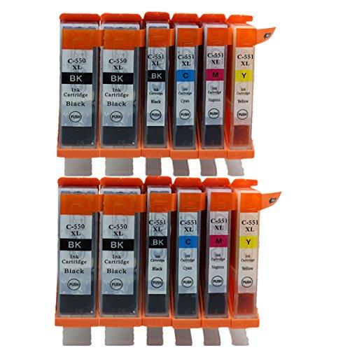 Preisvergleich Produktbild Generisch Kompatible Tintenpatronen Ersatz für Canon PGI 550XL 550 XL CLI 551XL 551 PGI-550 PGI-550XL CLI-551 CLI-551XL PGI-550XL CLI-551XL Tintenpatronen Hohe Kapazität kompatibel für Canon PIXMA MG5450 MG5550 MG6350 MG6450 MG7150 Ip7250 MX925 MX725 IX6850 IP8750 Tintenpatronen für Inkjet Drucker (4 Grossen Schwarz,2 Klein Schwarz,2 Cyan,2 Magenta,2 Gelb)
