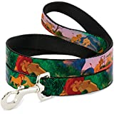 "Disney DL-6FT-WDY039-N Lion King Simba & Nala Growing Up Scenes Dog Leash, 0.5"" by 6', Multicolor"