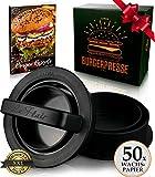 Le Flair XXL Burgerpresse-Set 4 in 1 -NEUES Modell 2019- mit E-Book | Burger Pattie Presse für Hamburger ideales Grillzubehör...