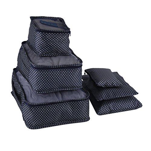 Yosoo 6pcs/set caja de almacenamiento hogar portátil bolsa de lavandería ropa caja de almacenamiento...