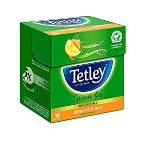 Tetley Green Tea, Lemon and Honey, 10 Tea Bags