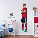 K&L Wandsticker, Wandtattoo, Aufkleber, Poster selbstklebend - FC Bayern - James Rodriguez (24x90 cm)