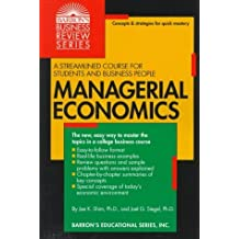 Managerial Economics (Business Review) by Jae K. Shim (1998-05-01)