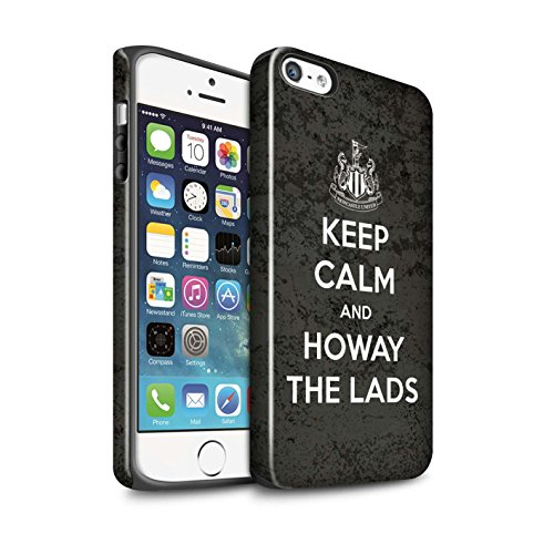 Offiziell Newcastle United FC Hülle / Glanz Harten Stoßfest Case für Apple iPhone 5/5S / Pack 7pcs Muster / NUFC Keep Calm Kollektion Howay Jungs
