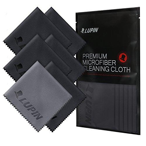 Mikrofaser Reinigungstücher, LUPIN [6 Pack] Prämie Fluse Poliertuch für Handy, Laptops, iPad,...