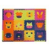 LFY Stuoia di Puzzle per Bambini, dodici Zodiaco, stuoie striscianti per Neonati Carini